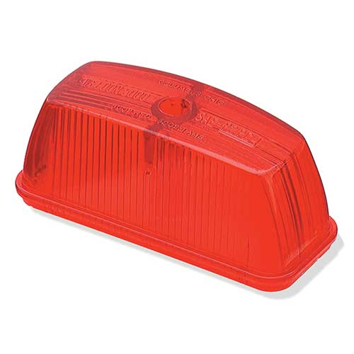 Grote Industries - 99802 – Clearance Marker Replacement Lens, School Bus Rectangular, Red