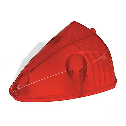 Grote Industries - 99912 – Clearance Marker Replacement Lens, School Bus Wedge, Red