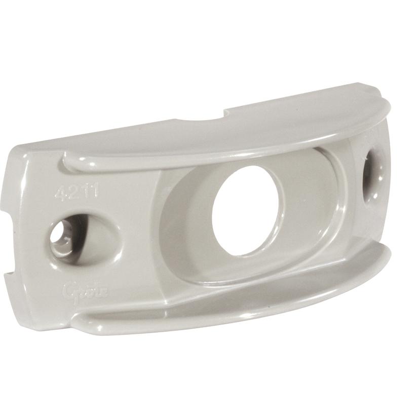 42110 – Surface Mount Bracket For MicroNova® Or MicroNova® Dot, Oval Mini Marker, Gray