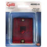 rectangular submersible clearance marker light reflector red retail