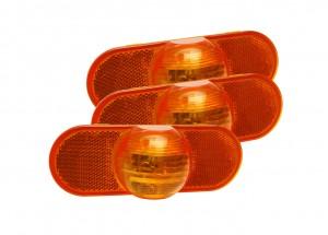 52533-3 – Torsion Mount® III Oval Side Turn Marker Light, Male Pin, Yellow, Bulk Pack