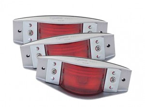 45012-3 – Armored Clearance Marker Lights, Red, Bulk Pack