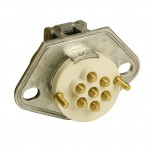 open Ultra-Pin Receptacle Two-Hole Mount, Receptacle Only, Split Pin