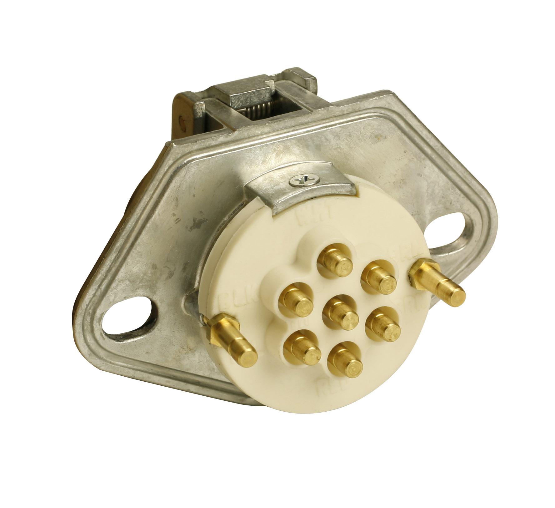Grote Industries - 87250 - Tomacorriente Ultra-Pin con dos agujeros de montaje, solo tomacorriente, clavija ranurada