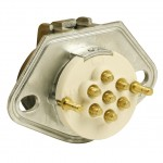 open Ultra-Pin Receptacle Two-Hole Mount, Receptacle Only, Solid Pin