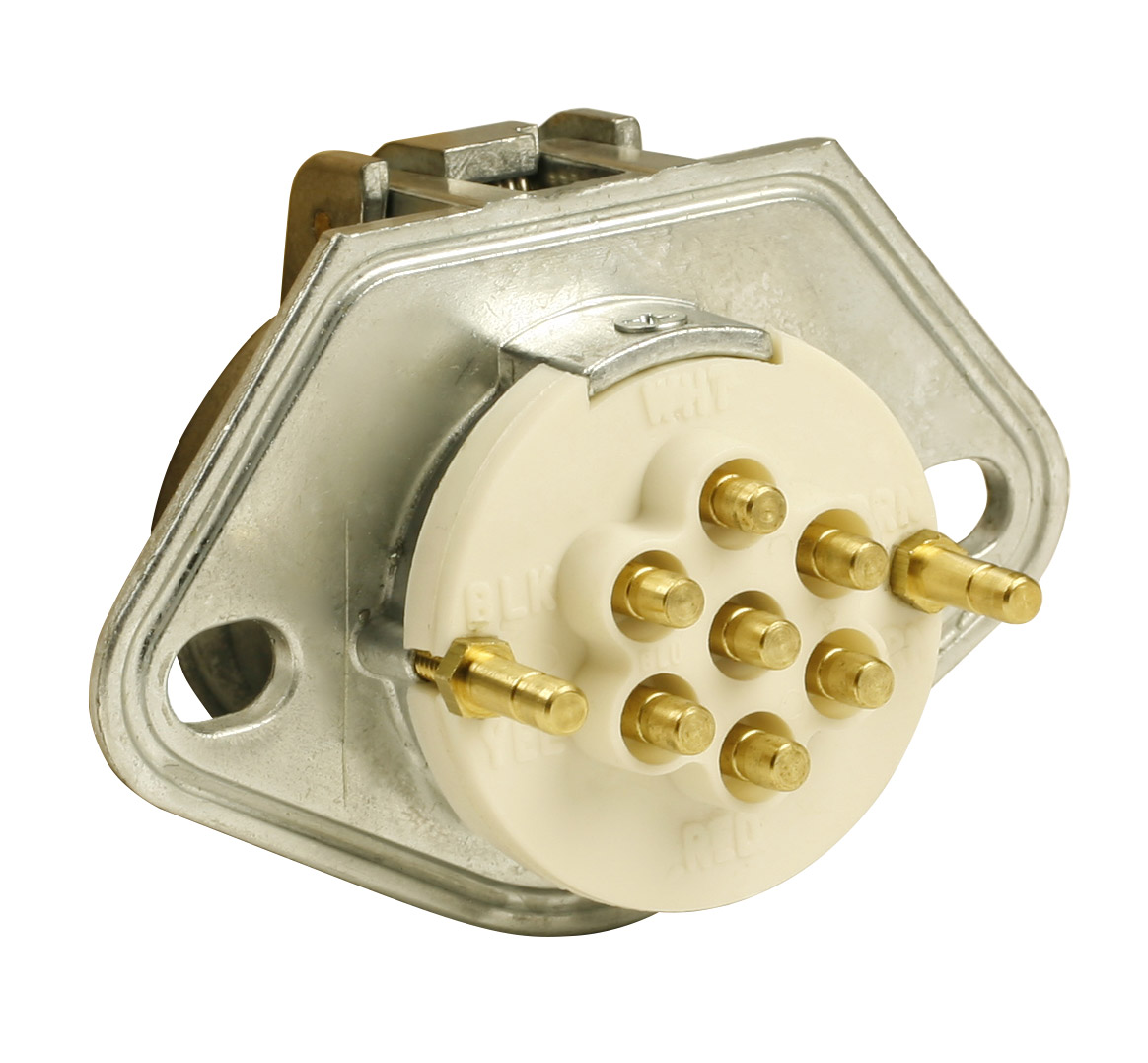 Grote Industries - 87860 – Ultra-Pin Receptacle Two-Hole Mount, Receptacle Only, Solid Pin