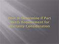 Anforderungen zur Garantie-Gewährung