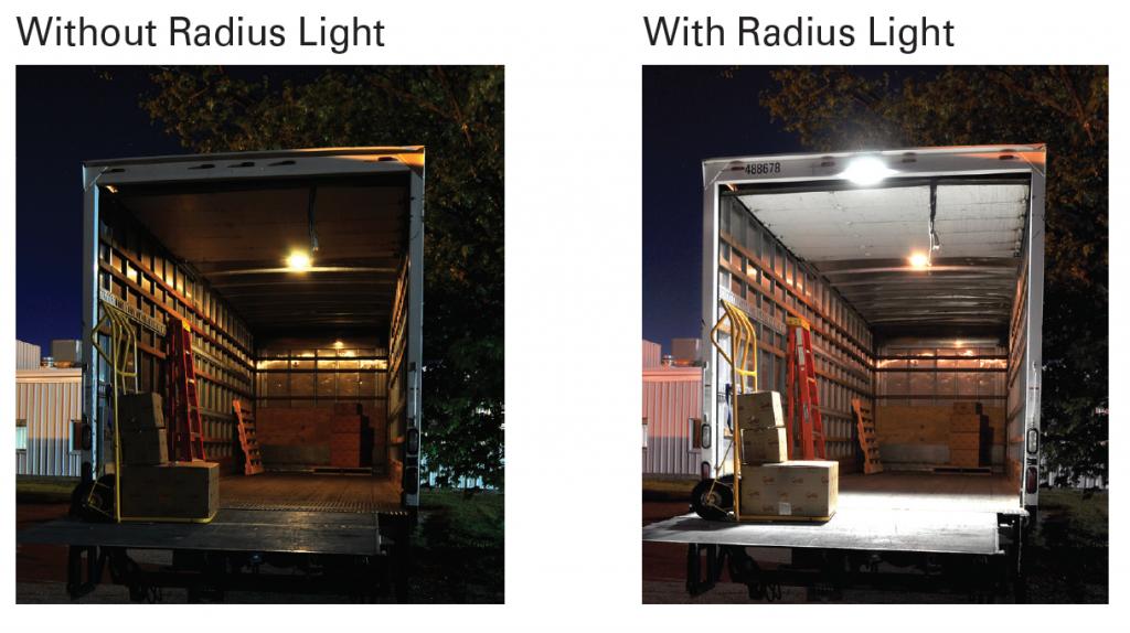 Grote LED Radius Light comparison shot
