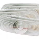 economy oval dual system backup light female pin clear bulk