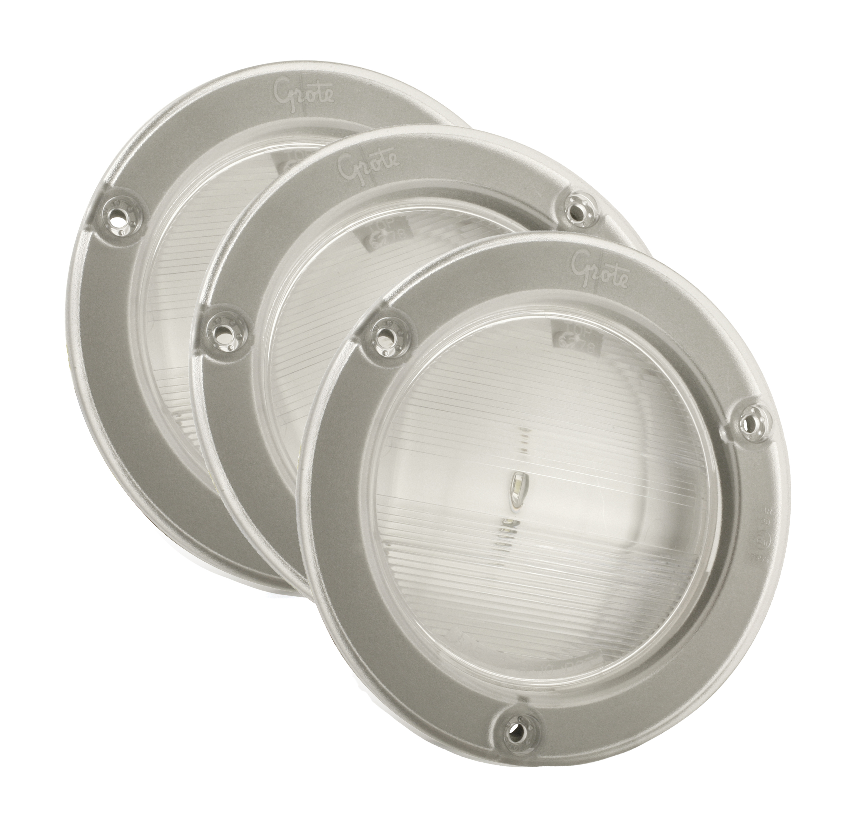 62791-3 – SuperNova® NexGen™ 4″ Dual-System LED Backup Light, w/ Gasketed Flanged, Hard Shell, Clear, Bulk Pack