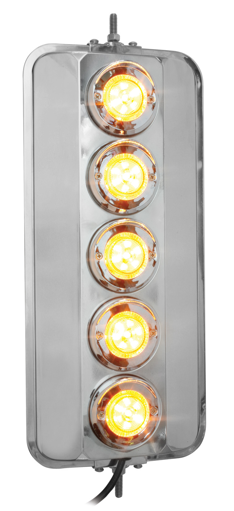 16353 – West Coast Heated Mirror With Auxiliary LED Turn Signal Light, Universal Fit
