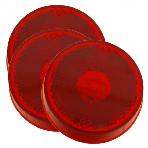 45832-3 – 2 1/2″ Clearance Marker Lights, Built-In Reflector, Red, Bulk Pack