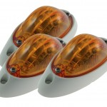 small aerodynamic combination marker side turn light white base bulk pack