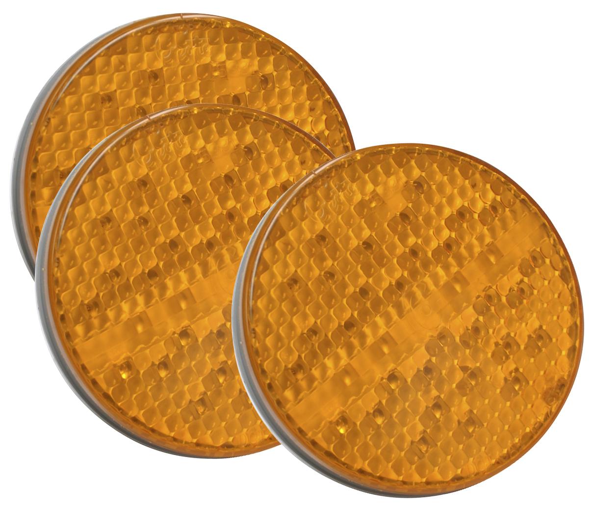 Grote Industries - 52163-3 – SuperNova® 4″ Full-Pattern LED Stop Tail Turn Light, Grommet Mount 24V, 3 Pin Rear Turn, Yellow, Bulk Pack