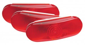 52182-3 – Economy Oval Stop Tail Turn Lights, Red, Bulk Pack