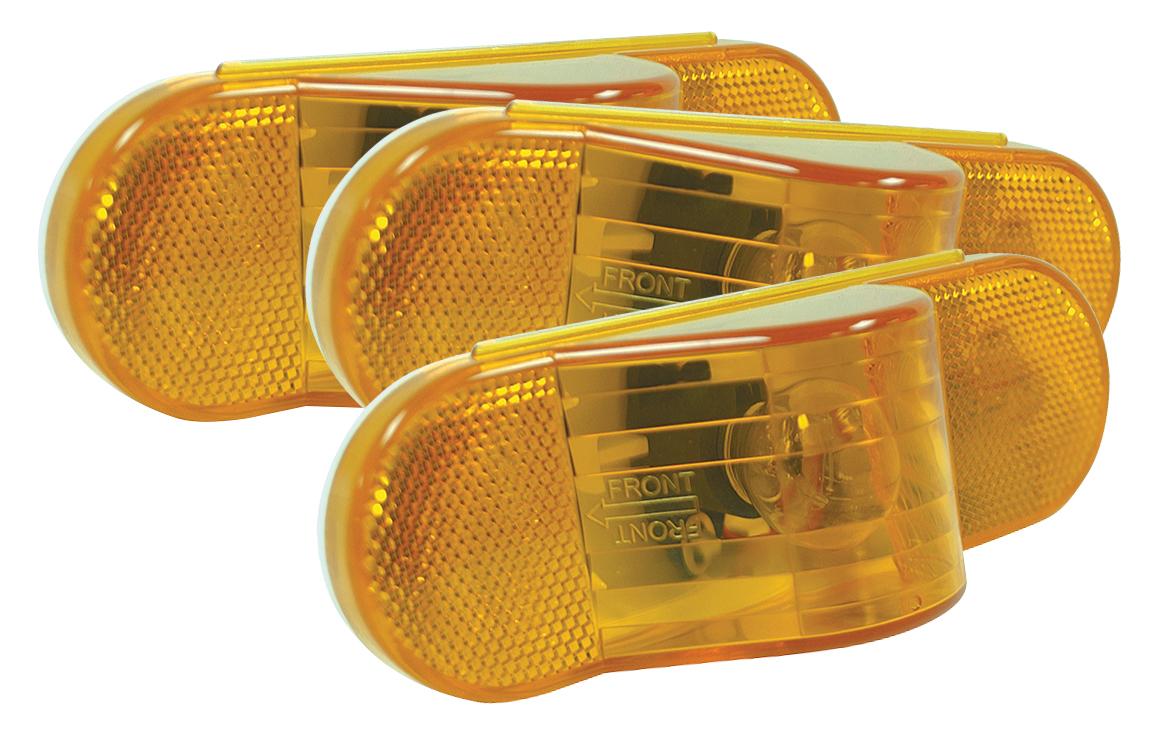 52193-3 – Economy Oval Side Turn/Marker Lamp, Yellow,Bulk Pack