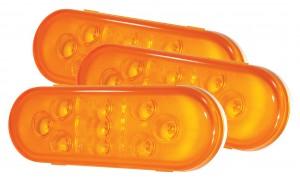 54143-3 – SuperNova® 9-Diode Oval LED Stop Tail Turn Light, Hard Shell, Yellow, Bulk Pack