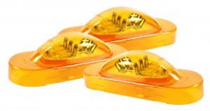 54183-3 – SuperNova® Oval LED Side Turn Marker Light, Grommet Mount, Male Pin, Yellow, Bulk Pack