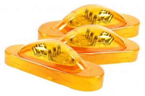 54193-3 – SuperNova® Oval LED Side Turn Marker Light, Grommet Mount, Hard Shell, Yellow, Bulk Pack