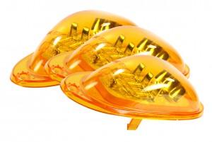 54223-3 – SuperNova® Oval LED Side Turn Marker Light, Surface Mount, Male Pin, Yellow, Bulk Pack