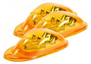54233-3 – SuperNova® Oval LED Side Turn Marker Light, Surface Mount, Hard Shell, Yellow, Bulk Pack