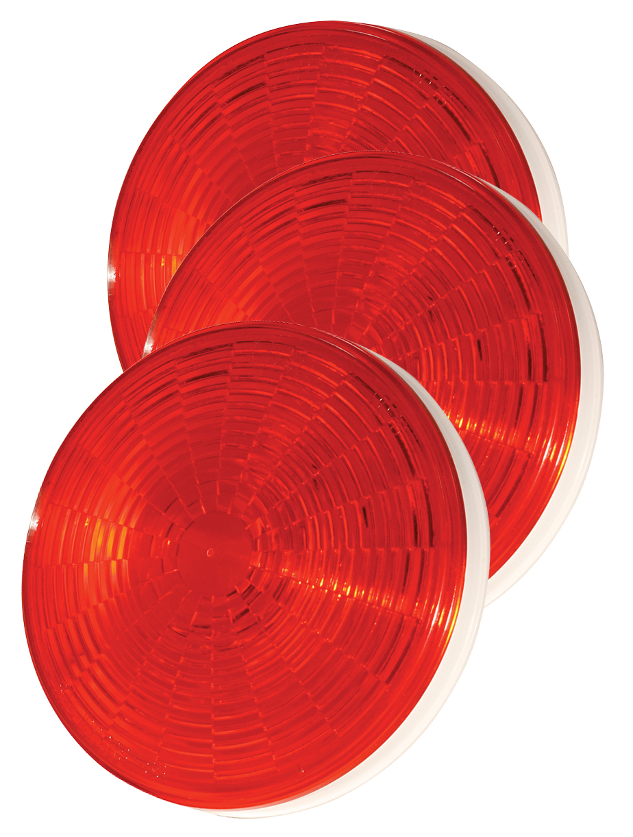 Grote Industries - 54332-3 – SuperNova® 4″ NexGen™ LED Stop Tail Turn Light, Grommet Mount, Male Pin, Red, Bulk Pack