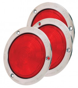54492-3 – SuperNova® 4″ NexGen™ LED Stop Tail Turn Lights, Stainless Steel Flange, Male Pin, Red, Bulk Pack