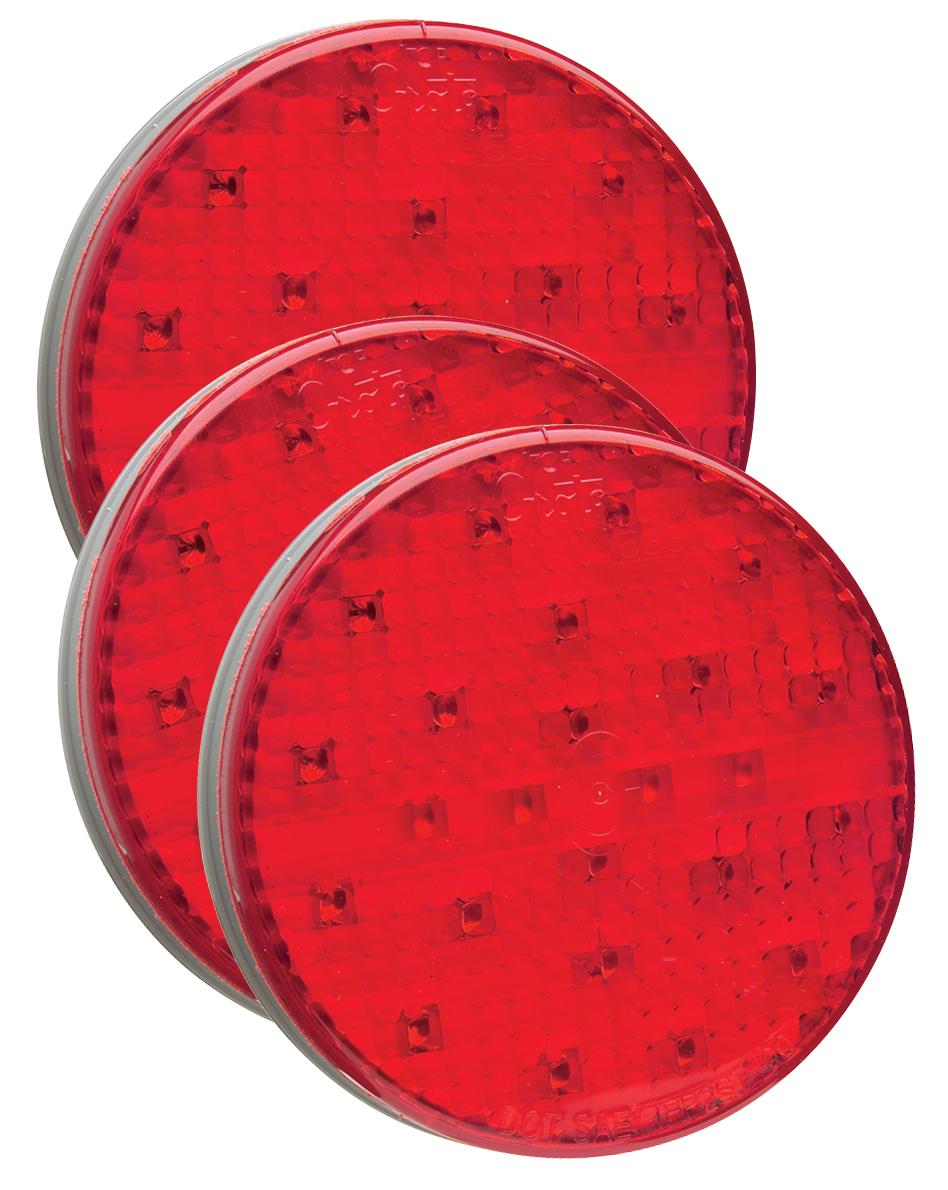 54562-3 – SuperNova® 4″ Full-Pattern LED Stop Tail Turn Light, Grommet Mount, Hard Shell Connector, Red, Bulk Pack