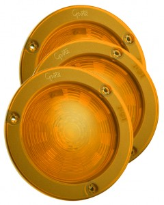 54573-3 – SuperNova® 4″ NexGen™ LED Stop Tail Turn Lights, Integrated Flange w/ Gasket, Hard Shell, Yellow, Bulk Pack