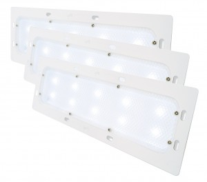 61881-3 – LED WhiteLight™ Recessed Mount 18″ Dome Light, Low Output, 10 Diodes, 400 Lumens, White, Bulk Pack