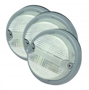 62011-3 – OE-Style Dual-System Backup Light, Gray Bezel, Clear, Bulk Pack