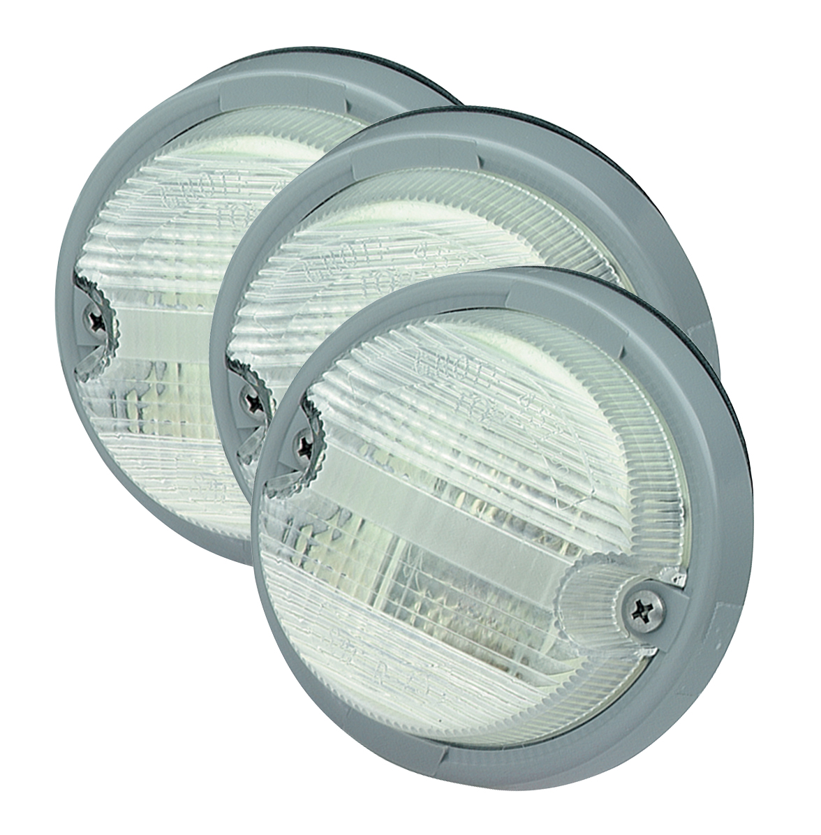 Grote Industries - 62011-3 – OE-Style Dual-System Backup Light, Gray Bezel, Clear, Bulk Pack