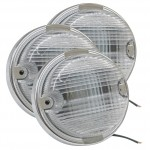 oe style dual system backup light chrome bezel clear bulk