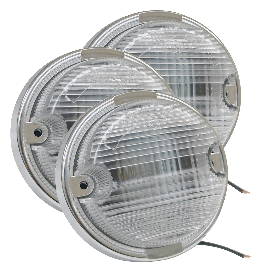 62021-3 – OE-Style Dual-System Backup Light, Chrome Plated Bezel, Clear, Bulk Pack