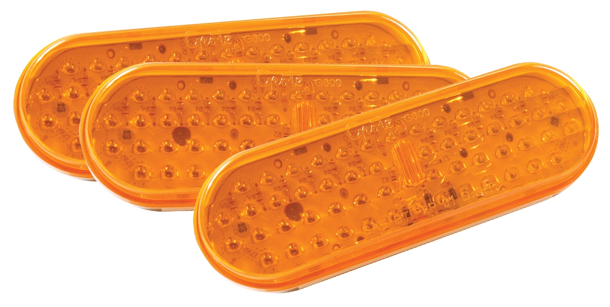 G6003-3 – Hi Count® 56-Diode Oval LED Stop Tail Turn Light, Yellow, Bulk Pack