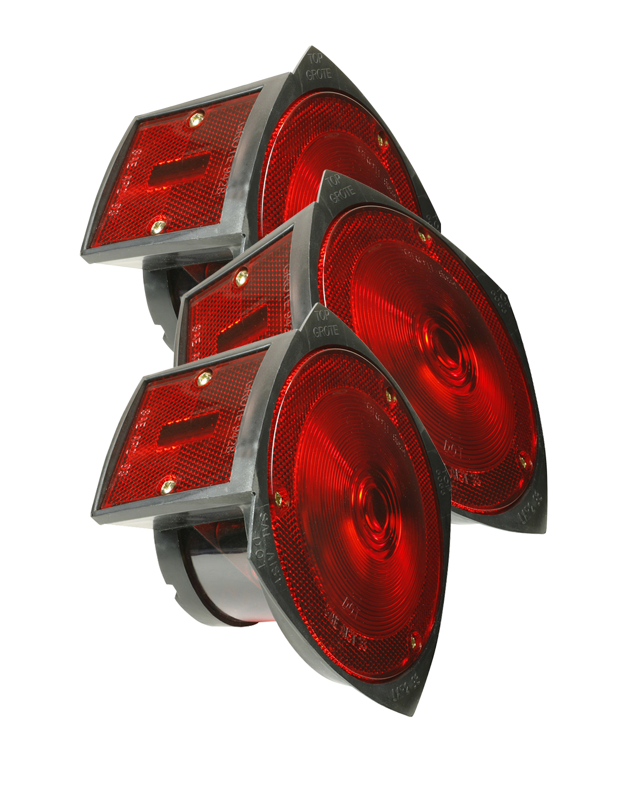 50532-3 – Trailer Lighting Kit with Side Marker Light, LH Stop Tail Turn Light Replacement, Red, Bulk Pack