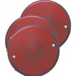 4 universal mount stop tail turn light license window red bulk pack