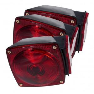 52302-3 – Trailer Lighting Kit, RH Stop Tail Turn Replacement, Red, Bulk Pack