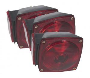 53662-3 – Submersible Trailer Lighting Kit, RH Stop Tail Turn Replacement, Red, Bulk Pack