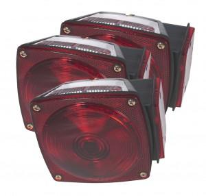 53672-3 – Submersible Trailer Lighting Kit, LH Stop Tail Turn Replacement, Red, Bulk Pack