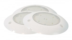 61401-3 – S100 LED WhiteLight™ Surface Mount Dome Light, 24V, Clear, Bulk Pack