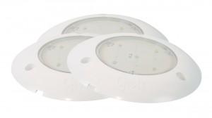 61401-3 – S100 LED WhiteLight™ Surface Mount Dome Light, 24V, Clear, Bulk Pack