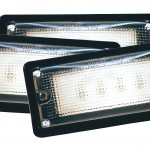LED Whitelight Recessed-Mount Interior Dome Lights.
