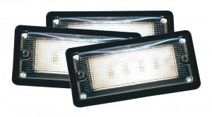 61760-3 – LED WhiteLight™ Recessed Small Mount Light, 6 Diodes, Hardwire Dome, 150 Lumens, 10-30V, Black, Bulk Pack