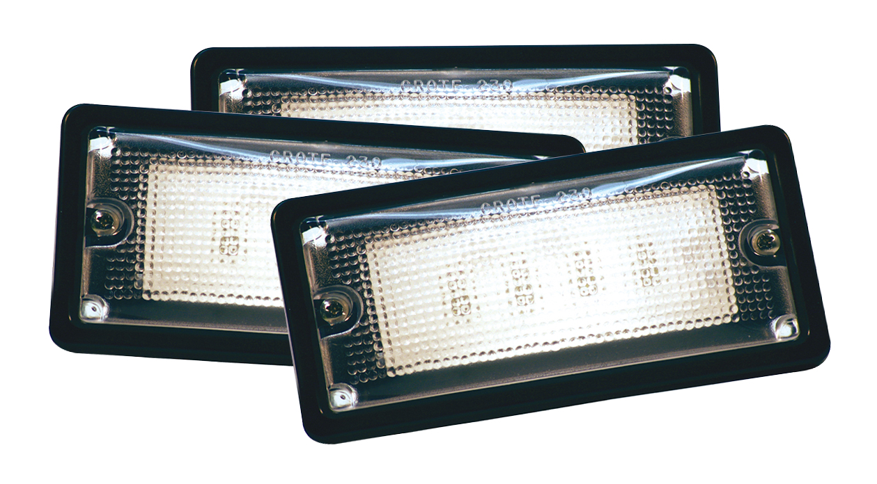 Grote Industries - 61760-3 – LED WhiteLight™ Recessed Small Mount Light, 6 Diodes, Hardwire Dome, 150 Lumens, 10-30V, Black, Bulk Pack