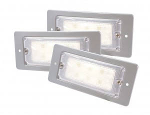 61931-3 – LED WhiteLight™ Recessed Small Mount Light, 6 Diodes, High Output Version, 300 Lumens, 12V, Gray, Bulk Pack