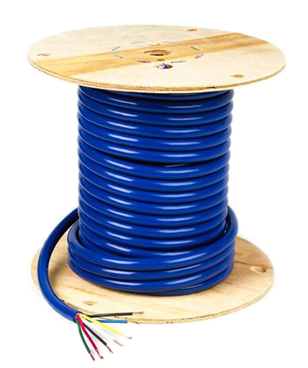 82-5828 – Low Temp Trailer Cable, 7 Conductor, 4/12 & 2/10 & 1/8 Gauge, 100′ Spool