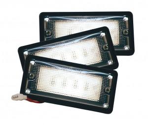 82080-3 – LED WhiteLight™ Recessed Small Mount Light, 6 Diodes, Dome Tyco, 150 Lumens, 10-30V, Black, Bulk Pack