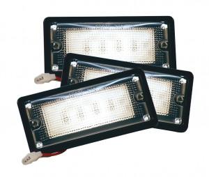 82400-3 – LED WhiteLight™ Recessed  Mount Light, 6 Diodes, Dome Tyco, 150 Lumens, 18-32V, Black, Bulk Pack