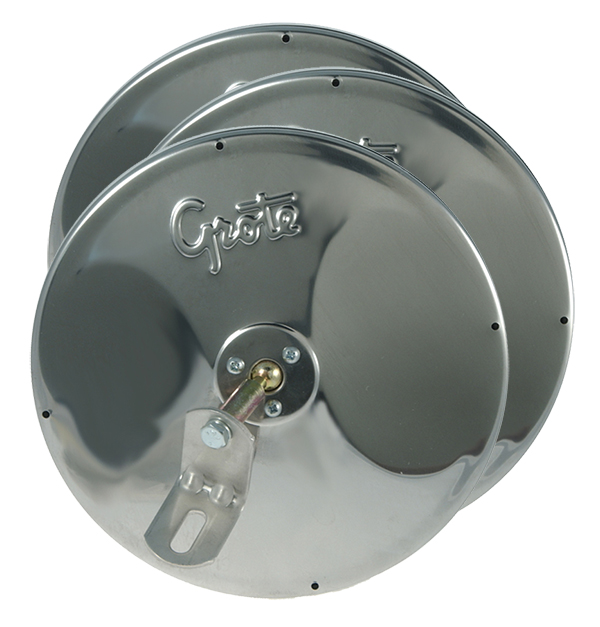 "12293-3 – 8″ Round Convex Mirrors With Center-Mount Ball-Stud, w/ Attached ""L"" Bracket, Stainless Steel, Bulk Pack"